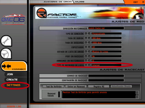 matchmaking Internet pour rFactor
